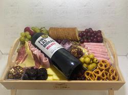 Mesa de vino y quesos