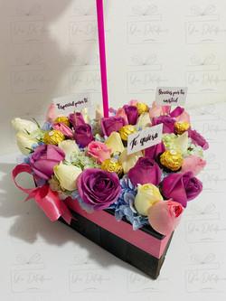 Corazon de rosas