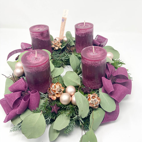 "Adventkranz ""Waldbeere"""