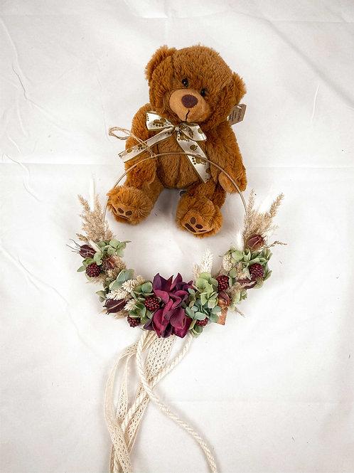 "Flower Hoop ""Violet Marron"""