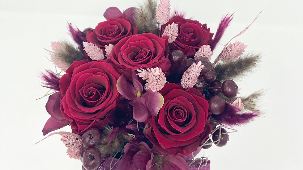 Dry Bouquet - Fleur Sèche Rouge
