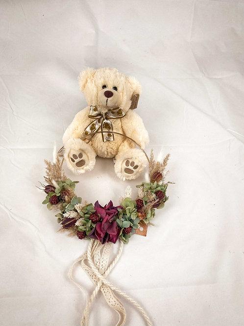 """Flower Hoop """"Violet Beige"""""""