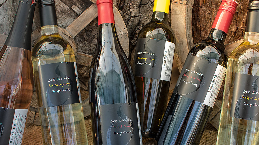 Steiner Wein - verschiedene Sorten