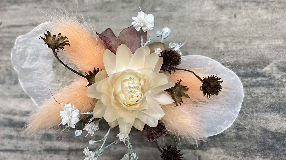 """Flower Hair Clip """"Bibelot Paille"""""""