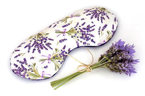 Relaxing Lavender Eye Pillow - Lavender Bouquet front view
