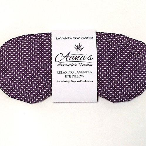 Relaxing Lavender Eye Pillow - Polka Dot