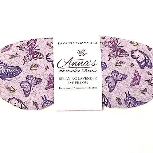 Relaxing Lavender Eye Pillow - Butterflies package