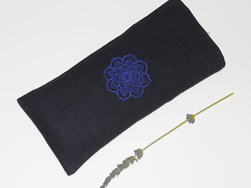 Relaxing Lavender Eye Pillow with Removable Cover Mandala - Blue front