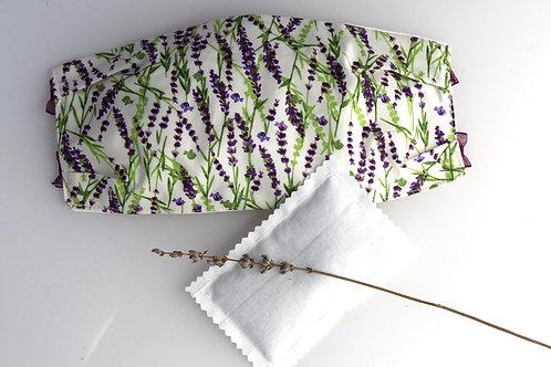 Washable Face Mask 3 layers of 100% cotton Filter Pocket Lavender Sachet
