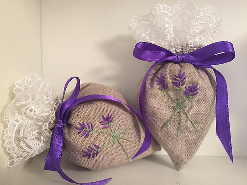 Lavender Linen Shoe Fresheners Hand Made Decor