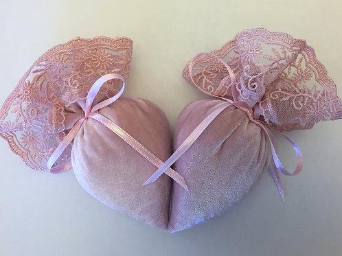 Lady's Velvet Lavender Shoe Freshener - Light Pink