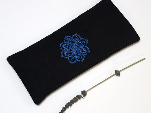 Relaxing Lavender Eye Pillow with Removable Cover Mandala - Light Blue front view