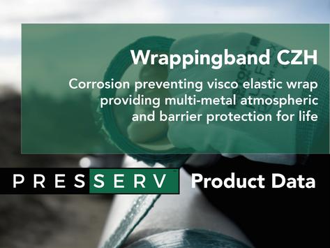 Visco-elastic corrosion-preventing wrap, no blasting required.