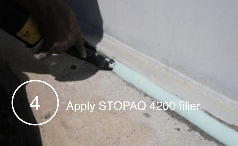 Applying STOPAQ EZ filler