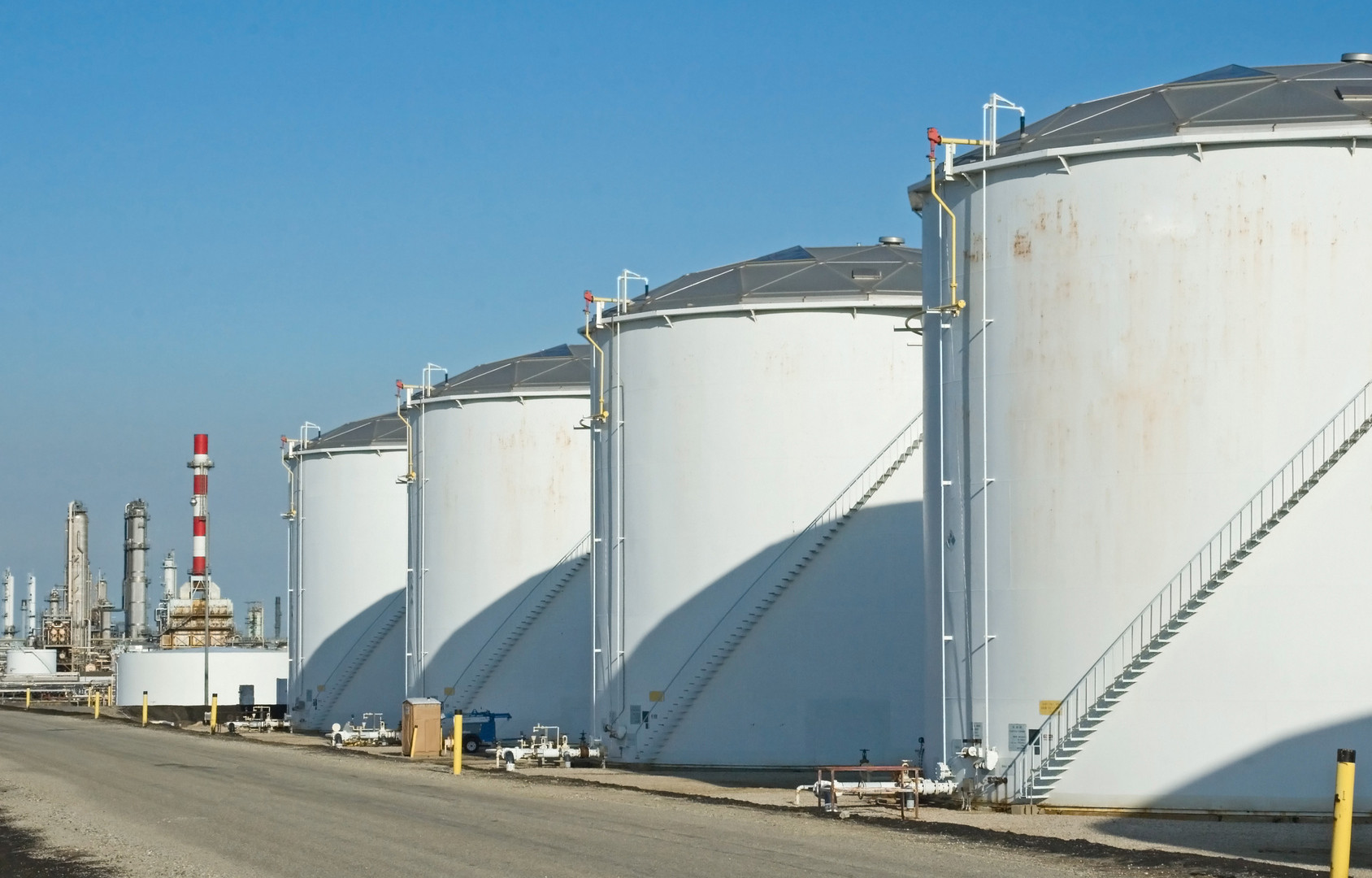 Using STOPAQ to seal the chime area of storage tanks prevents corrosion of the tank bottom.