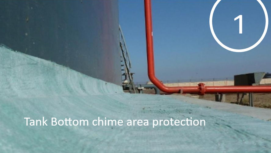 Tank bottom chime area protection