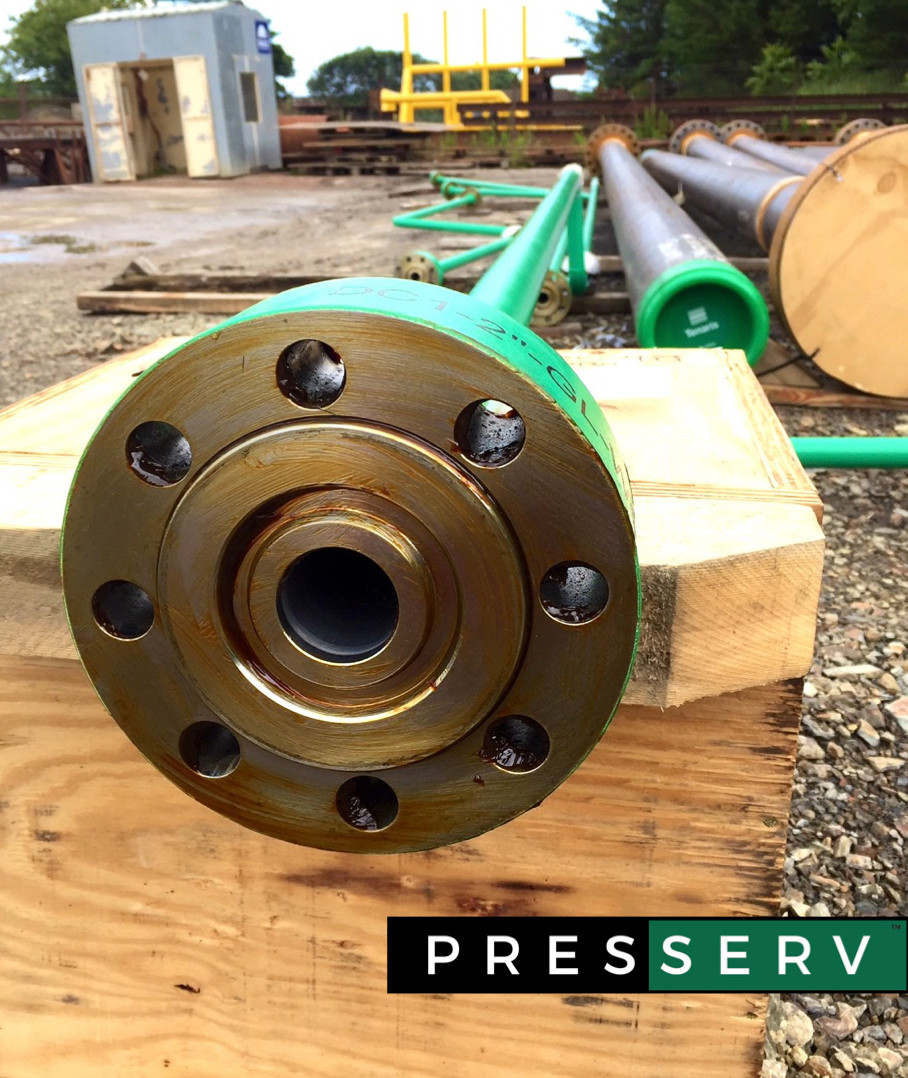 Presserv, Aberdeen, protecting flanges using Cortec VpCI 368