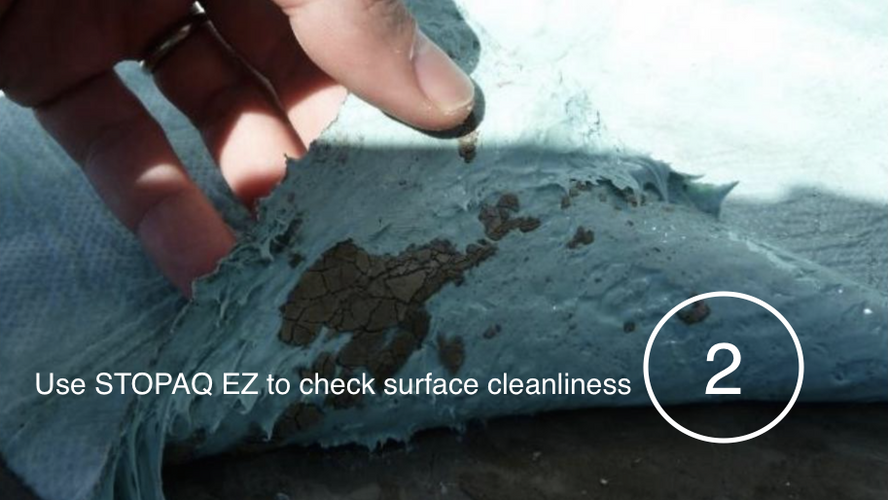 STOPAQ EZ to check surface cleanliness
