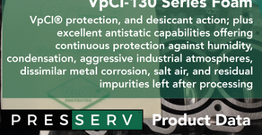 Unique flexible packaging materials that combine VpCI® protection desiccant action plus antistatic.