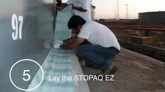 Laying STOPAQ EZ