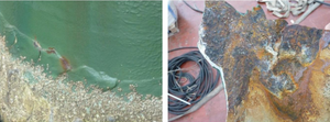 Cracking of the epoxy coatings. STOPAQ is impermeable to water and oxygen and can be applied underwater