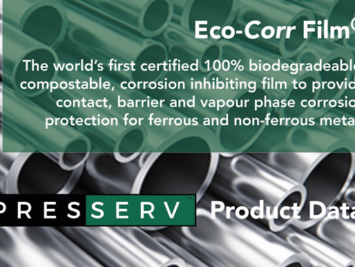 The Worlds first certified 100% biodegradable, compostable corrosion inhibiting film.