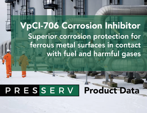 Presserv, Aberdeen, provides solution to the corrosive nature of gas travelling through pipelines to power the Netherlands using VpCI-706