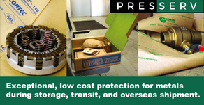 Presserv recommends Cortec's range of VpCI® coated papers for exceptional protection of metals