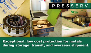 Presserv, Aberdeen, recommends Cortec's range of VpCI® coated papers for exceptional corrosion protection of metals