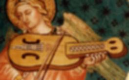 Nyckelharpa | angelo con viola a chiavi | Taddeo di Bartolo | Siena | Italia