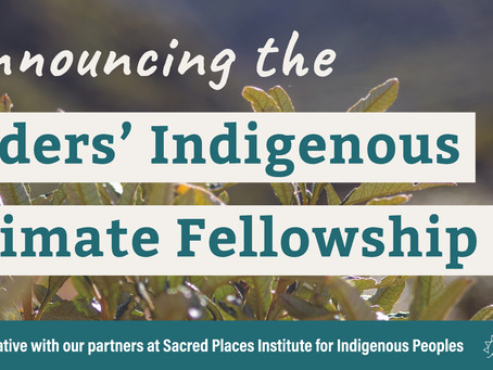 Announcing the Elders' Indigenous Climate Fellowship!