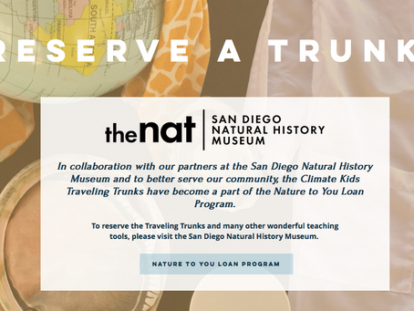 Climate Kids Traveling Trunks Available Now at San Diego Natural History Museum!