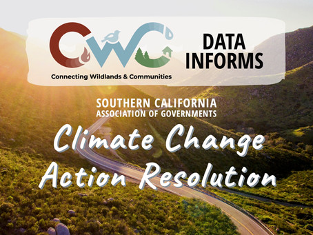 CWC Data Informs SCAG Climate Change Action Resolution
