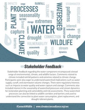 Stakeholder Feedback: Water