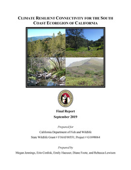 Final Report: Climate Resilient Connectivity