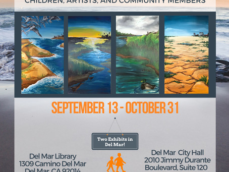 "Del Mar Library and City Hall Host ""Art of Change"" through October!"