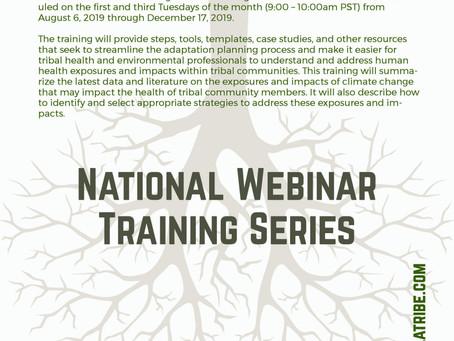 Tribal Climate & Health Adaptation Webinar Series Begins August 6