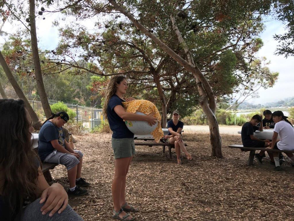 Climate Kids fm Pauma at Batiquitos (5) Marina with blanket on Earth