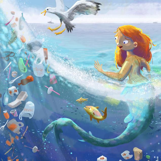 Mermaid in Plastic