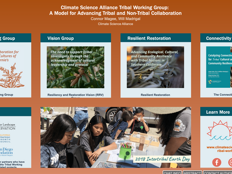 Climate Science Alliance Tribal WorkGroup Represented at 2020 AGU Fall Meeting