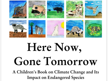 Climate Kids from High Tech Middle School Create Book on Climate Change