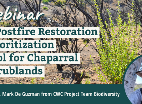 A Postfire Restoration Prioritization Tool for Chaparral Shrublands: Webinar