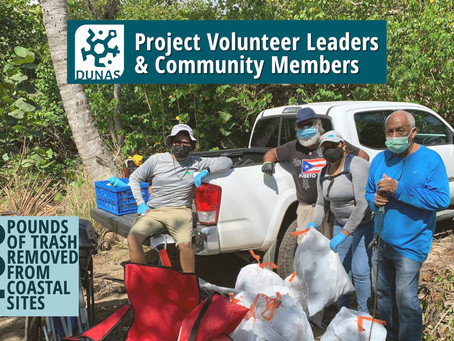Líderes de DUNAS Ayudan a Limpiar Sitios Costeros