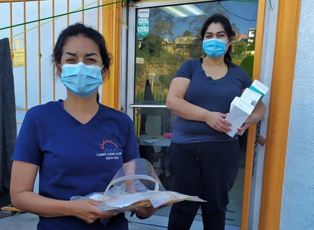 Face Masks & Shields Distributed to Baja California Communities