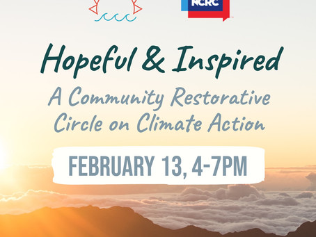 Join us for a Community Climate Circle on February 13!
