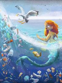 Mermaid and the Plastic Ocean