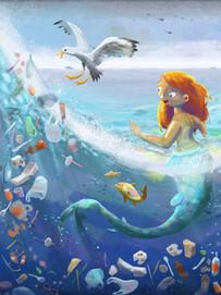 Mermaid and the Plastic Ocean