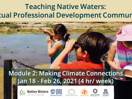 Join Today! Making Climate Connections Tribal Educator Module