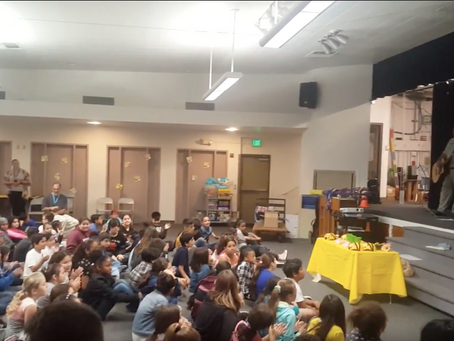 Biomimicry Performs for Climate Kids at Cajon Valley Middle School