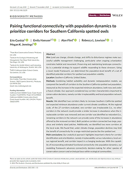 Publication: Pairing Functional Connectivity with Population Dynamics